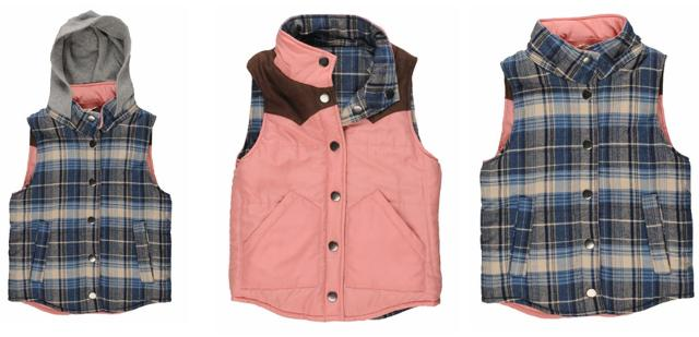 H81 Reversible Plaid Vest