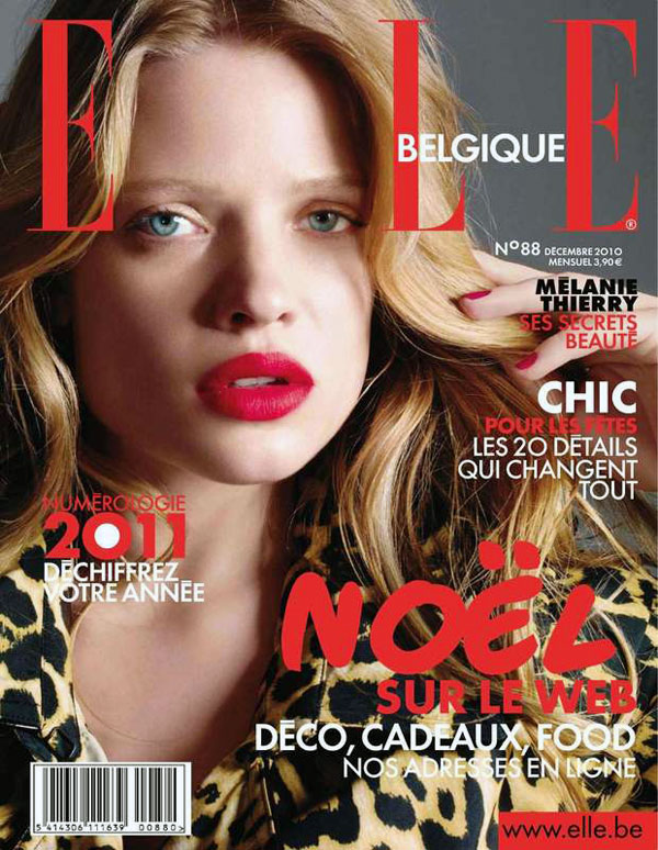 Melanie Thierry for Elle Belgium December 2010