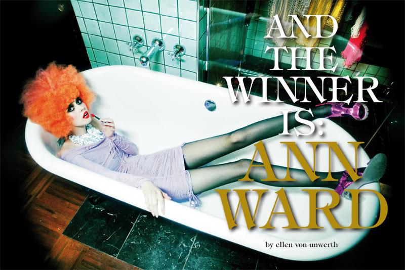 And the Winner Is Ann Ward - Ellen von Unwerth - Vogue Italia March 2010