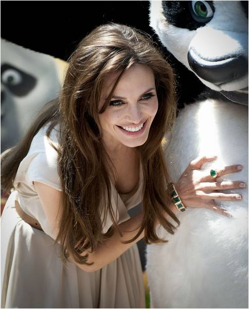 Angelina Jolie promotes Kung Fu Panda 2 at the Cannes Film Festival.