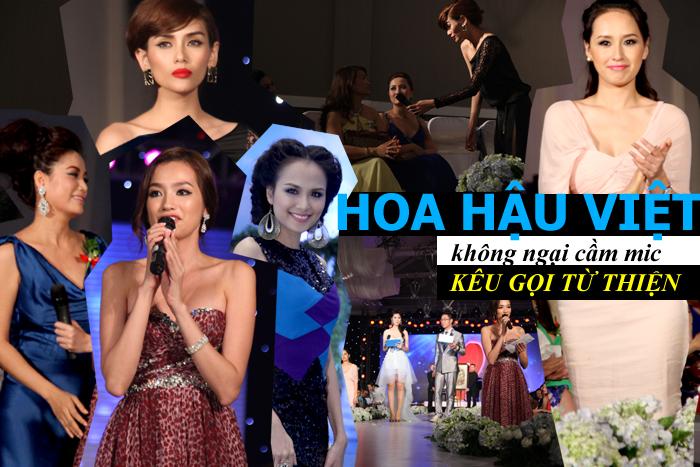 HH Việt không ngại cầm mic kêu gọi từ thiện